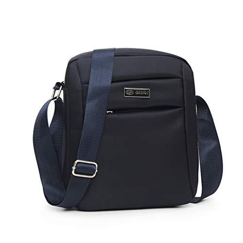 BaZhaHei Handtasche Männer Kleine Herrentasche Casual Mode Einfarbig Geschäft Schultertasche Drausse Kuriertaschen für Urlaub Reise Ausflug Spaziergang und Wandern (Blau)