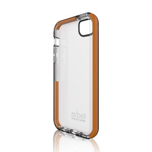 Tech21 Impact Shell Schutzhülle Smokey/rauchig für Apple iPhone 5/5S Orange/transparent