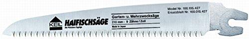 KEIL 100 015 427 Ersatzblatt für Japanische Haifischsäge - Gartensäge 210 mm - 9 Zähne/Zoll