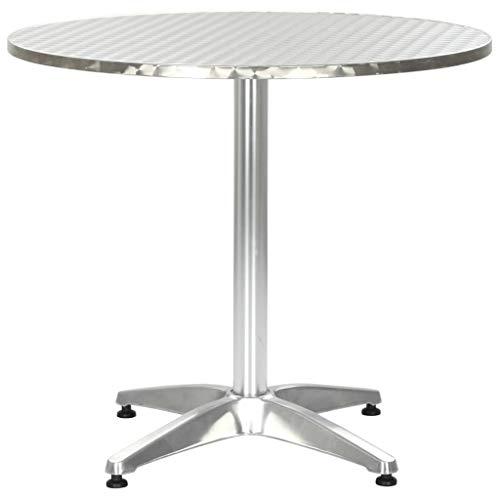 Festnight- Metall Gartentisch Rund ? 80cm | Beistelltisch Bistrotisch Terrassentisch Balkonm?Bel Aluminium