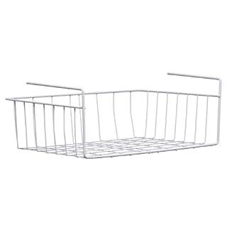 Premier Housewares Under Shelf Storage Basket, 39 cm - White