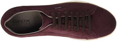 Geox Ricky F, Baskets Basses Homme Rot (BURGUNDYC7016)