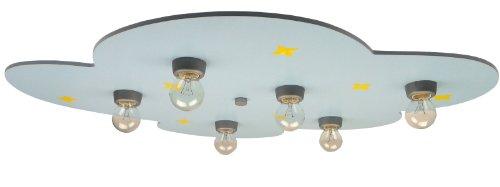 Niermann-Standby 661 - Deckenleuchte Stern-Wölkchen, 6 x E14 - max. 40 Watt inklusive Leuchtmittel, 57 x 74 x 7 cm, hellblau