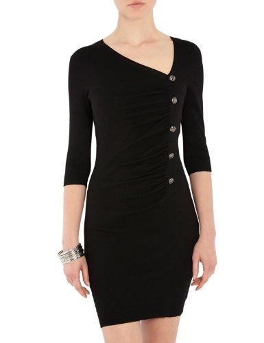 Morgan - Robe - Moulante - Uni - Manches 3/4 - Femme - Noir - FR : 38 (Taille fabricant : S)