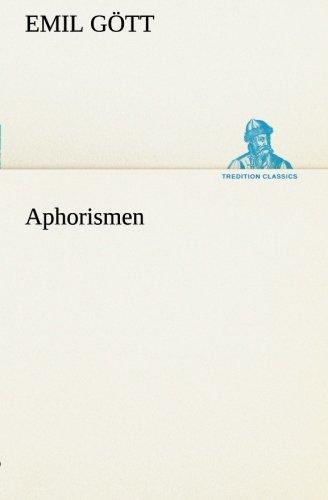 Aphorismen (TREDITION CLASSICS)