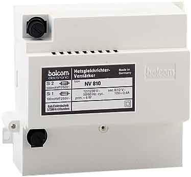 Balcom Electronic Netzgleichrichter NV 810 Netzgerät für Tür-/Videosprechanlage 4250088741302
