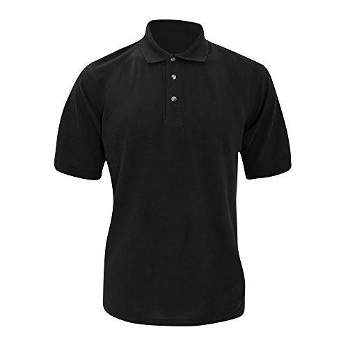 Kustom Kit Chunky Superwash 60c Herren Polo-Shirt, Kurzarm Heather Grau