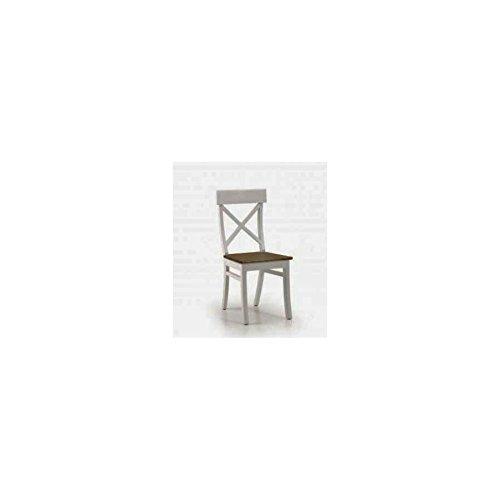 MONCONTAINER Chaise en Bois Blanche