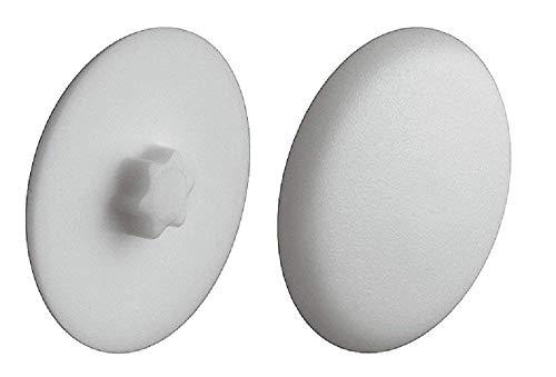 Gedotec Schrauben-Abdeckungen zum Einpressen Verschluss-Stopfen grau Schrauben-Kappen Kunststoff | H1121 | Ø 12 mm | IS20 | 20 Stück