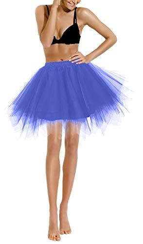 Petticoat Unterrock Krinoline Petticoat Karneval Hoopless Kleid Tutu Vintage Retro Röcke Petticoat Kleid 50s tüllrock Rockabilly Skirt Crinoline Geburtstagsfeier einzelne Partei Carnival Single Party