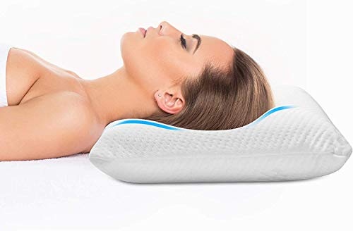 """Zofey Memory Foam Cervical Medical Pillow for Sleeping Orthopedic Pillows for Neck Back Pain ( 20""""X12""""X3"""") White Color"""