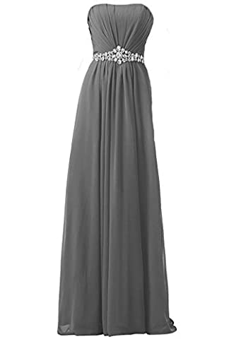 WAWALI Formal Long Prom Dresses Evening Party Gowns Crystal 10 Gray