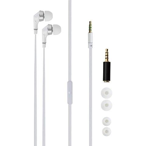 Xqisit 12504 - Auriculares in-ear estéreo con micrófono para smartphones, color blanco