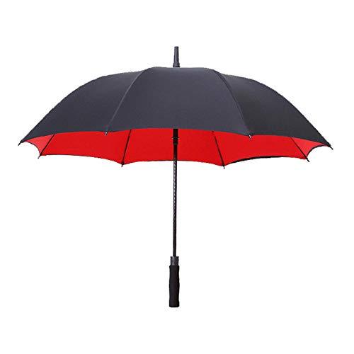 Golfschirm Folding Auto öFfnen/SchließEn Regenschirm Winddicht Leichte üBergrößE Double Canopy BelüFtete wasserdichte Stockschirme,red