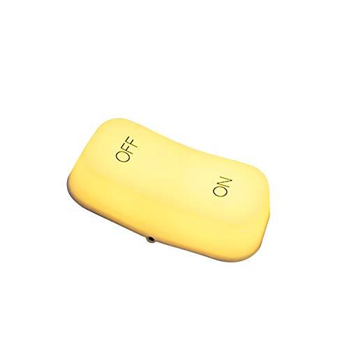 HLGY Led Gravity Sensor Switch Light - Off-on-Taste Verstellbare Tischlampe Nachttisch Nachtlicht,Yellow