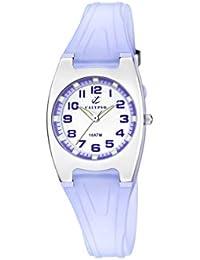 Calypso - K6042/E - Montre Fille - Quartz - Analogique - Aiguilles lumineuses - Lumineuse - Boussole - Bracelet plastique violet