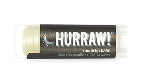 Lip Treatment Balm (Hurraw! Balm, Night Treatment Lip Balm, Blue Chamomile Vanilla, .15 oz (4.3 g))