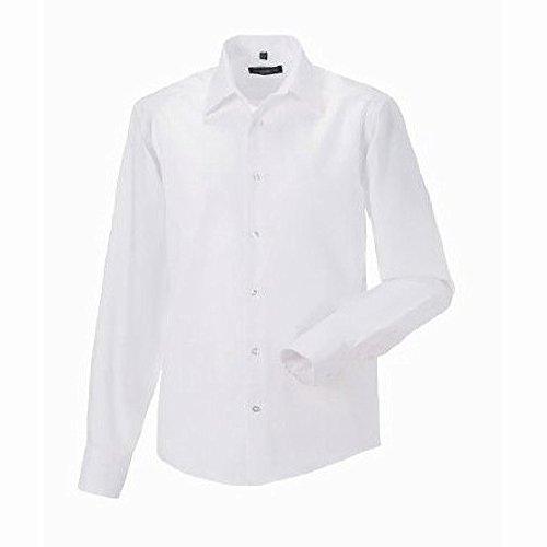 Russell Collection Herren Hemd, Langarm, bügelfrei Pink