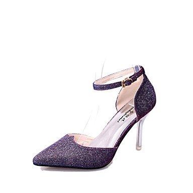 Moda Donna Sandali Sexy donna tacchi Primavera / Estate / Autunno sintetico piattaforma Party & Sera / Casual Stiletto Heel nero / viola / bianco / oro Black