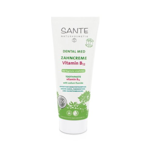 Sante Zahncreme mit Vitamin B12 1 x 75 ml pflegend regenerierend reinigend schützt Karies Parodontose für Vegetarier