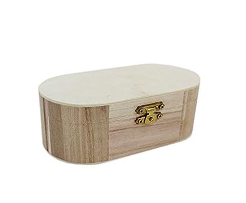 incurvé en bois Boîte à bijoux de mémoire au trésor de rangement bijoux Peinture Art Craft par Accessoires grenier