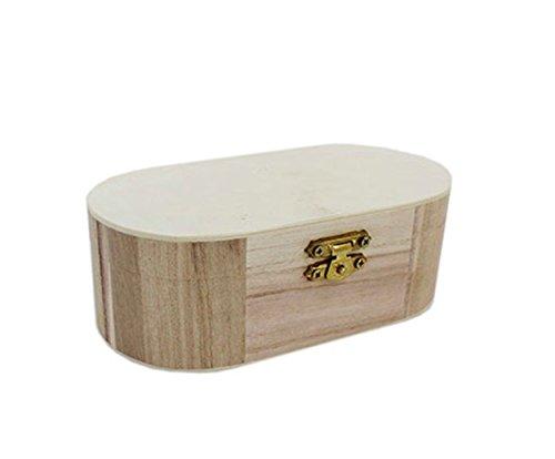 Gebogene Kante Schmuckkasten aus Holz Memory Treasure Schmuck Aufbewahrung Paint Art Craft by Zubehör Dachboden®