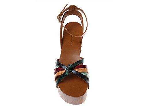 Sandales compensée Isabel Marant en cuir multicolore - Code modèle: ZIA CP0009 16P014S Multicolore