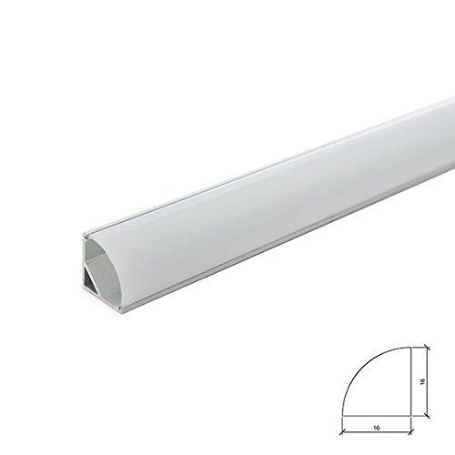 Perfíl Aluminio LEDS Instalación Esquinas - Difusor
