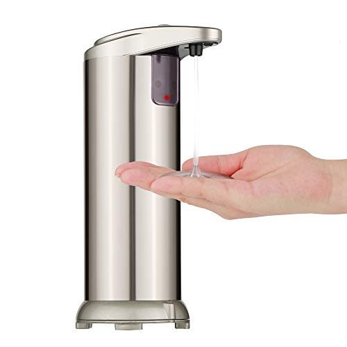 Automatischer Seifenspender, Seifenspender Automatisch mit Sensor, Hohe Qualität Seifenspender Edelstahl Sensor für Küche und Bad(Chroma)