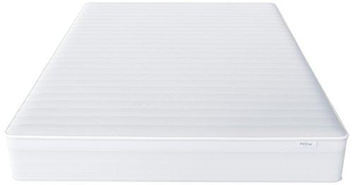 Hilding Sweden Essentials Federkernmatratze in Weiß / Mittelfeste Matratze mit orthopädischem 7-Zonen-Schnitt für alle Schlaftypen (H2-H3) / 200 x 100 x 22 cm