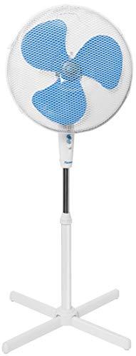 Bestron Ventilateur sur pied oscillant, Hauteur : 122 cm, Ø 45 cm, 45 W, Blanc