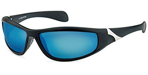 UVprotect leichte Herren Sport Sonnenbrille Outdoor Fahrrad blau W46-3