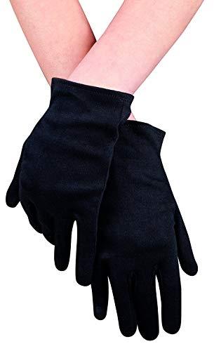 narrenkiste B03070 schwarz Damen Pierot Handschuhe