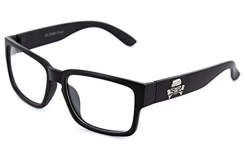 Nerdbrille Slim extra schmal Panto Brille Lesebrille ohne Stärke Geek Nerd Sonnenbrille