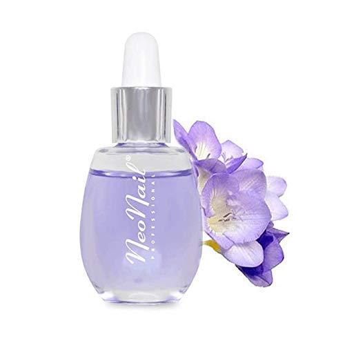 NeoNail Nagelhautöl 15 ml mit Pipette Nail Premium Hautöl verschiedene Dufte Nagelöl Pflege Nagelhautpflege (Nagelöl mit Pipette 15ml - Freesie) die beste Qualität Effizient Effektiv
