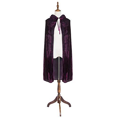 """Maple Enfants Halloween Costumes Garçons Filles Cosplay Long Cape Cape Enfant Déguisements pour Noël (Violet, 100cm / 39 """")"""