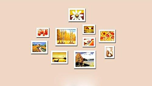 Mainstream-wohnzimmer (ASL Einfache Foto Wand Massivholz Rahmen Wand Wohnzimmer Verkauf Mehrfache Kombinationen Mainstream Stil Kreative Persönlichkeit Restaurant Kombination Wand Unregelmäßig Qualität ( Farbe : C ))