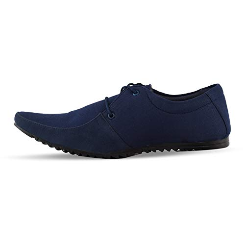 ESSENCE Men's Formal Shoes with Casual Look Blue