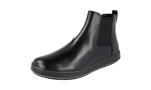 Prada 4T3153 Herren Halbstiefel aus Leder, Schwarz (schwarz), 40 EU - Kleid Schuhe Prada Männer