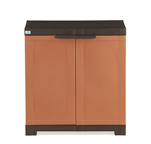 Nilkamal Freedom 09 Mini Shoe Cabinet (Rust and Weather Brown)