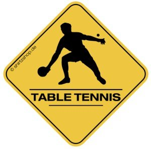 TABLE TENNIS, TISCHTENNIS SPIELER CROSSING #2 Aufkleber Autoaufkleber Sticker Vinylaufkleber Decal