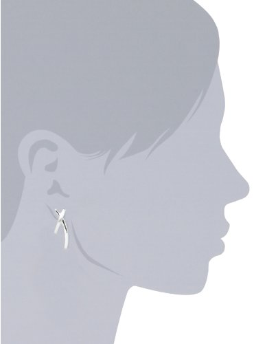 Vinani Damen-Ohrstecker X-Form Exess Sterling Silber 925 Ohrringe OEX - 3