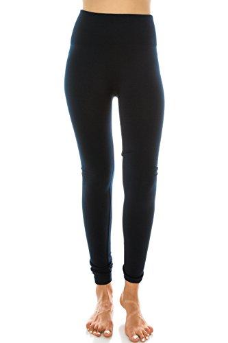 Hohe Taille mit Fleece-Futter Leggings Regular und Plus Size für Frauen und Junioren Navy
