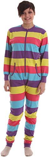 Funzee Festival Ganzkörperschlafanzug ohne Kapuze, einteiliger Pyjama, Erwachsenenstrampler, Jumpsuit, Schlafoverall, Onesie, körpergrößenabhängige Unisexgrößen in XS-XXL (Small)