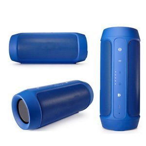 TechVastra Music Edition Charge 2 Plus Wireless Portable Mobile Tablet Bluetooth Speaker (Blue)