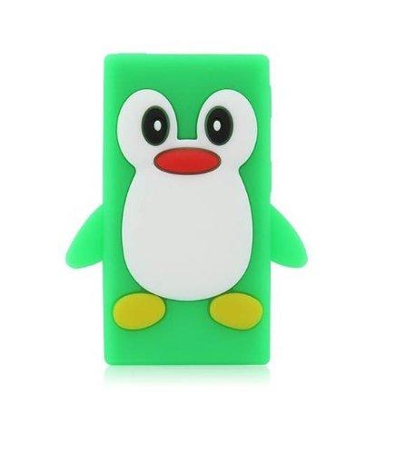 Tinkerbell Trinkets® Grün Apple iPod NANO 7 7th Generation Pinguin niedlichen Tier Silikonhülle Shell Beschützer Handy Smartphone Zubehör