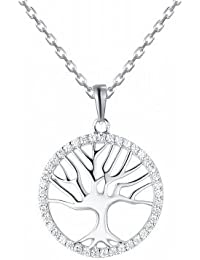 Tree Of Life Rooted Necklace In 925 Silver, Necklace For Women- By Ornate Jewels