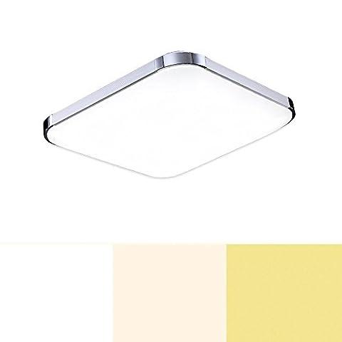 12w LED Deckenlampe Farbwechsel 3in1 Modern Drei Farben Veränderung Lampe Wohnzimmer Deckenleuchte Esszimmer Modern Deckenbeleuchtung Treppen Flur Korridor Markantes Design drei Lichtfarben Badlampe [Energieklasse A++]