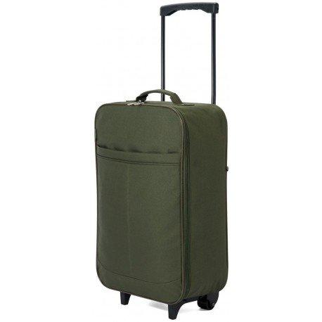 Maleta cabina plegable especial compañias low cost - 51x34x20cm (Verde)