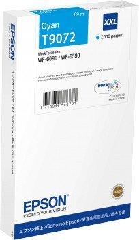Preisvergleich Produktbild Epson C13T907240 Tintenpatrone, WF-6xxx, XXL, cyan